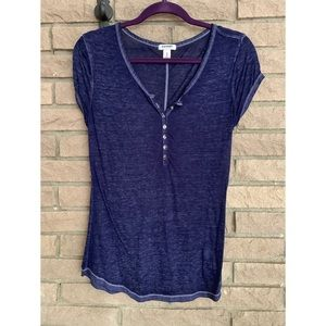 Old Navy Burnout Style V-Neck Tee